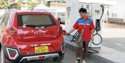 Petrol stations across Laos on Wednesday increased retail prices of petrol and diesel
