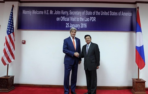 In Rare Visit To Laos, Kerry Seeks Closer Relations