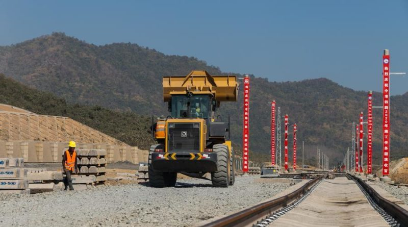 China-Laos Railway Tracks Laid To Luang Prabang, Achieving Yearly Goals