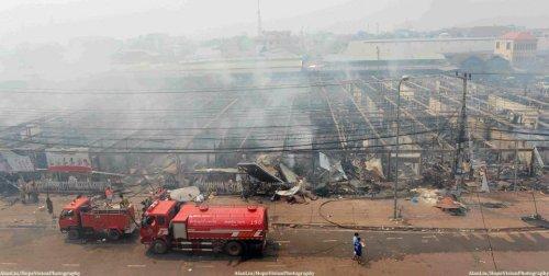 Explosions Rock Vientiane's Biggest Marketplace