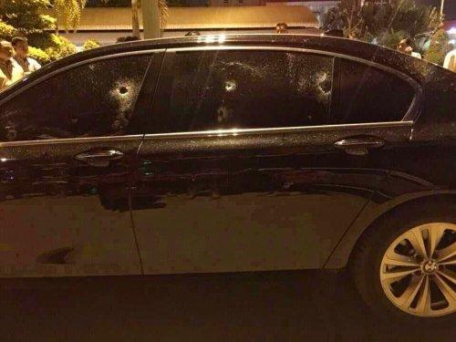 Businessman, Driver Survive Hail Of Gunfire