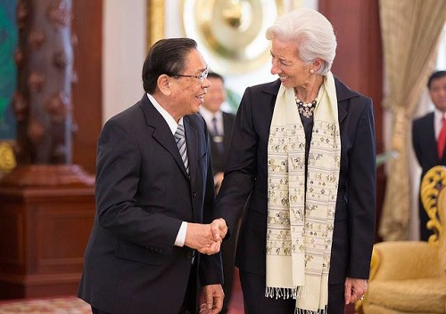 IMF chief praises Laos, warns of challenges ahead