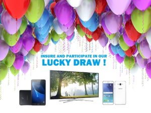 Insure And Participate In Our Lucky Draw !