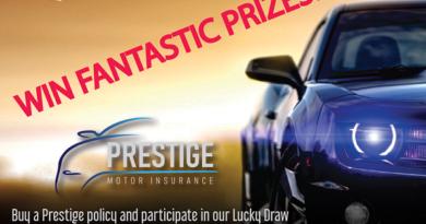 Win Fantastic Prizes – PRESTIGE Motor Insurance