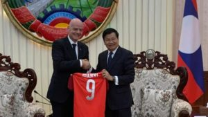 FIFA President Infantino Makes First Visit To Laos